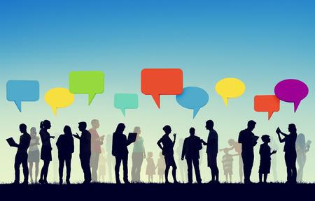 コミュニティ ビジネス チーム デジタル通信の概念 写真素材