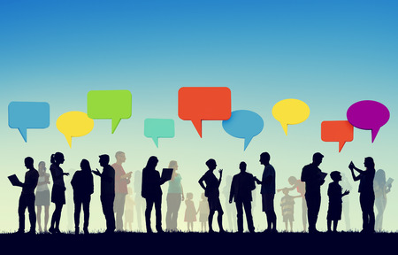 Community Business Team Digital Communication Concept Standard-Bild