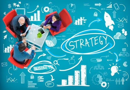 business idea: Strategy Plan Marketing Data Ideas Innovation Concept Stock Photo