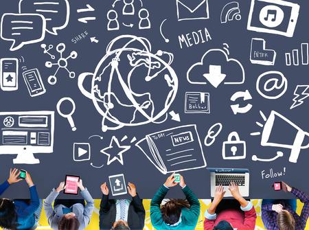 wireless technology: Digital Device Online Internet Wireless Technology Communication Concept