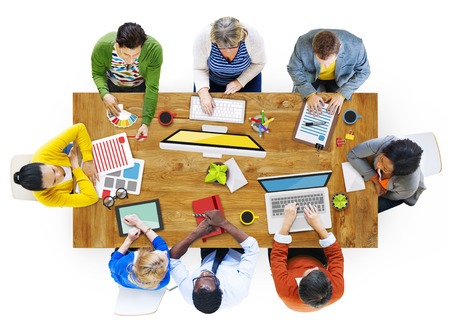 it support: Multiethnic Group of People Working in the Office