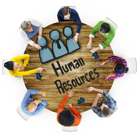career plan: Aerial View People Career Plan Human Resources Concepts Stock Photo