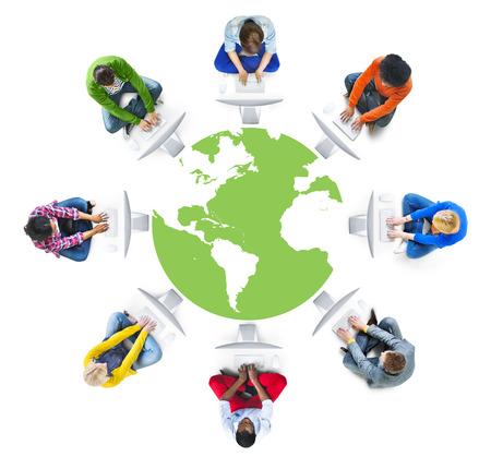 rete di computer: Persone di social networking e di rete Concetti Archivio Fotografico