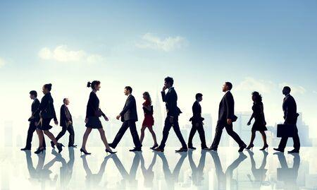 urban scene: Colleague Business Corporate Office Urban Scene Team Concept
