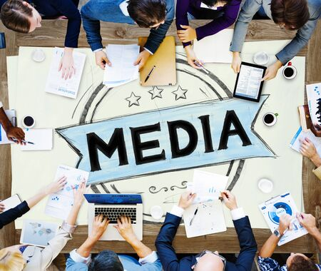 pr: Media Journalism Multimedia Communication Internet Concept