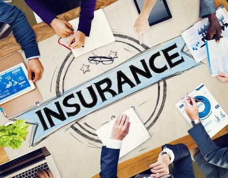 insurance: Insurance Benefits Protection Risk Security Service Concept