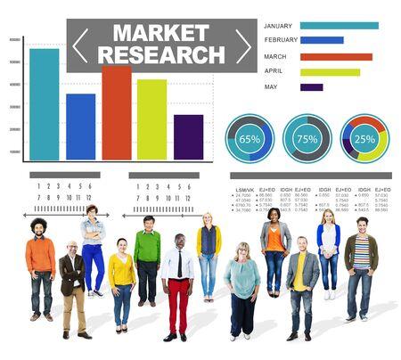 Investigación del mercado Porcentaje de Investigación de Mercados Estrategia Concepto Foto de archivo - 41340259