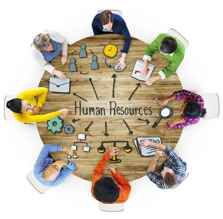 Aerial View People Career Plan Human Resources Concepts Stock Photo