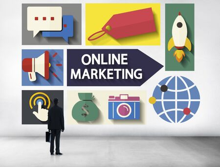 Online Marketing Branding Global Communication Analysing Concept photo