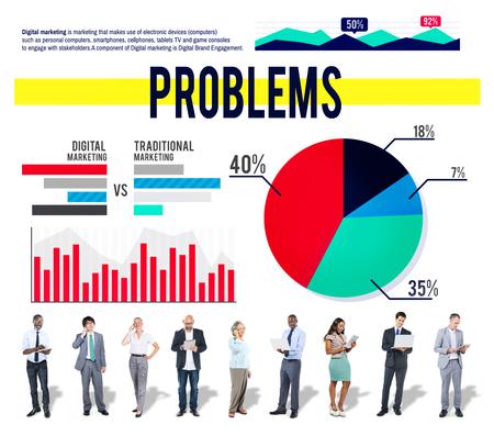 drawback: Problems Recession Failure Drawback Concept Stock Photo