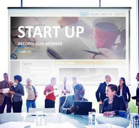 Start up Registration Member Joining Account Concept photo