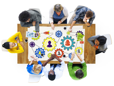 place to learn: Community Business Team Partnership Collaboration Support Concept Stock Photo