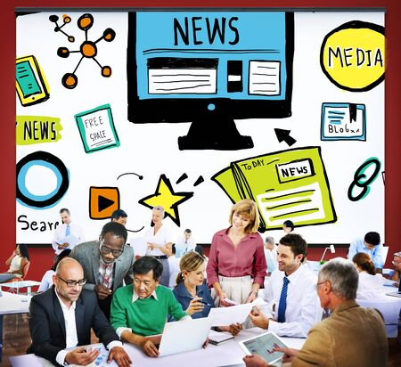 publication: News Article Advertisement Publication Media Journalism Concept