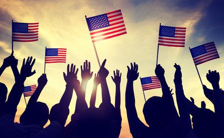 julio: Bandera EE.UU. 04 de julio Celebración Indendence Concepto de día Foto de archivo