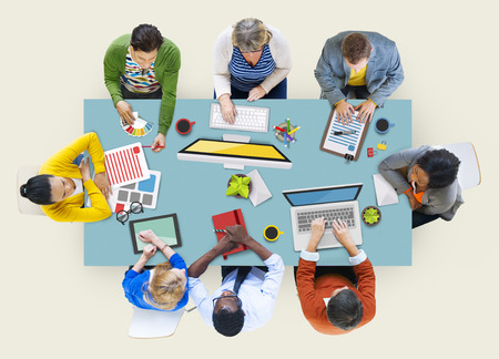 it support: Administrator Casual Colleagues Team Teamwork Togetherness Concept Stock Photo