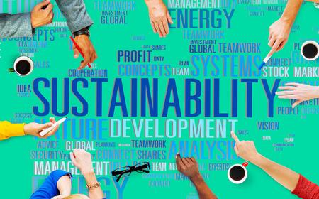 持続可能性環境保全生態学の概念 写真素材