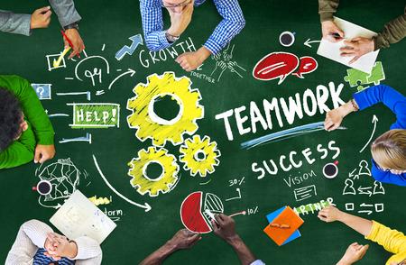 colaboracion: Trabajo en equipo Team Collaboration Juntos Reuni�n Lluvia de Ideas Concept