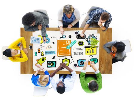 team communication: Diversity  Business Team Training Communication Brainstorming Concept