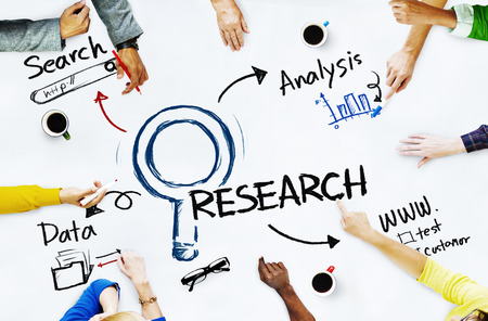 questionnaire: Group of People with Research Concept