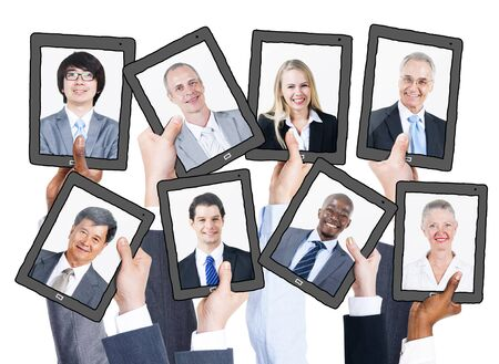 Business People and Social Networking Concepts Stock Photo