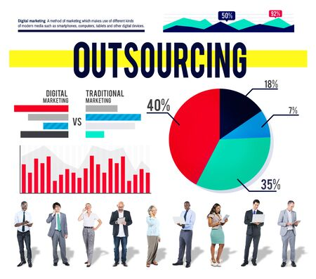 Outsourcing Recruitment Strategy Marketing Business Concept photo