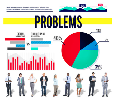 with difficulty: Problems Drawback Difficulty Mistake Business Concept Stock Photo