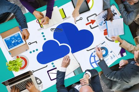 Cloud Computing Online Network Internet Concept de stockage Banque d'images - 41341199