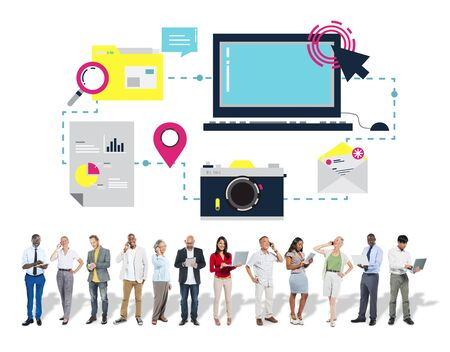 Technology Media Social Network Connection Concept photo