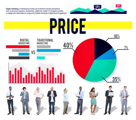 amount: Price Amount Money Finance Marketing Business Concept Stock Photo