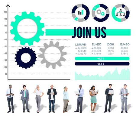 sharing information: Join us Networking Sharing Information Contact Concept