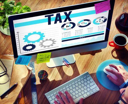 audit: Tax Taxation Legal Audit Financial Economy Concept