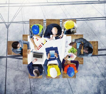 workstation: Brainstorming Planning Partnership Strategy Workstation Business Adminstratation Concept