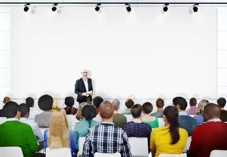copy  space: Multiethnic People Seminar Copy Space Conference Concept