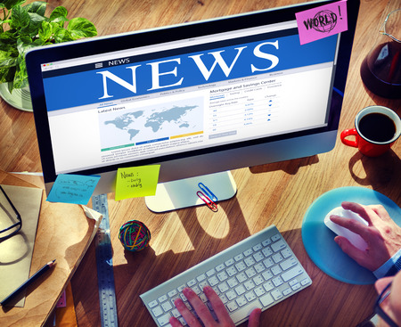 mortage: Digital Online Global News Update Concept