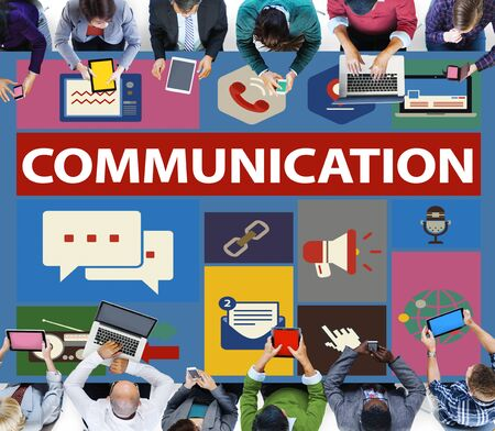 business communication: Communication Instant Messaging Chatting Talking Concept