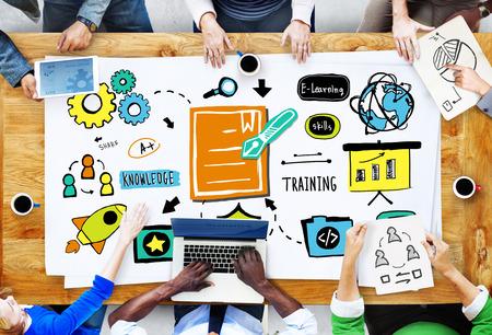 Diversiteit Zaken Casual Mensen Brainstormen Training Concept