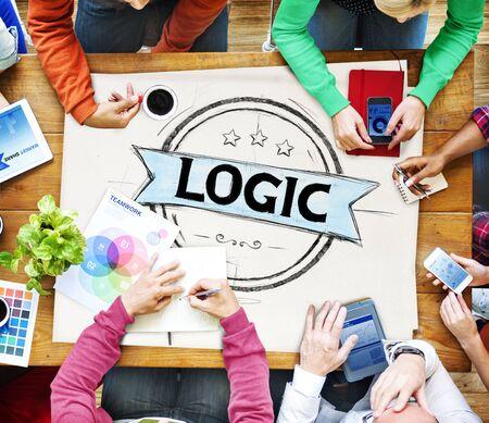 critical thinking: Logic Lgical Reasonable Critical Thinking Concept Stock Photo