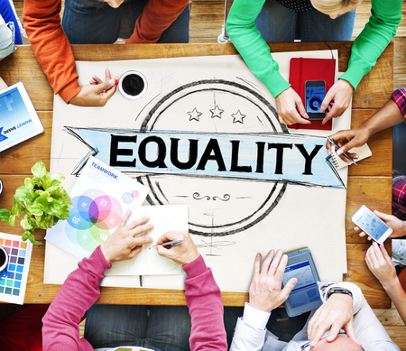 equality: Equality Balance Discrimination Equal Moral Concept Stock Photo