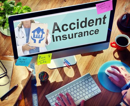 healthcare office: Accident Insurance Safety Healthcare Office Working Concept