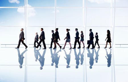 businessman walking: Business People Corporate Walking Office Concept Stock Photo