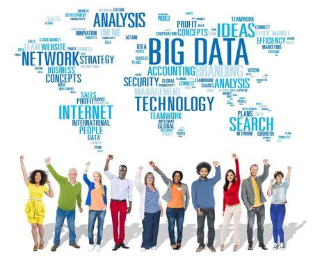 Big Data Storage Information World Map Concept photo