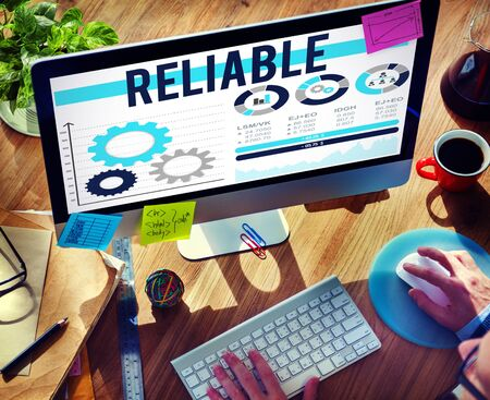 reliable: Reliable Trust Integrity Trustworthy Consistency Concept Stock Photo