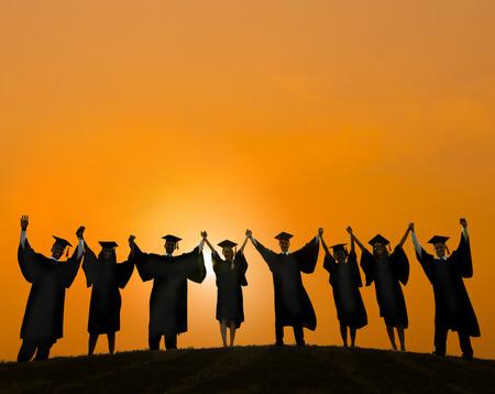graduate: Celebration Education Graduation Student Success Learning Concept