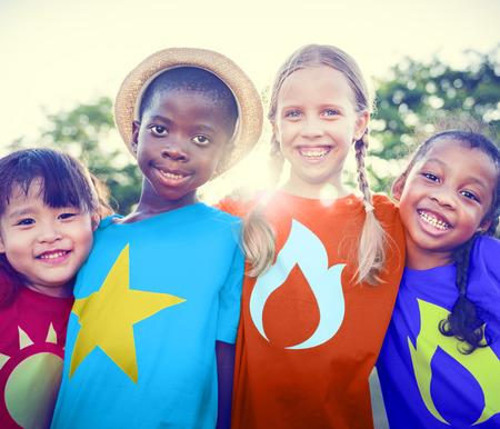 çocuklar: Süper Kahraman çocuk Stok Fotoğraf