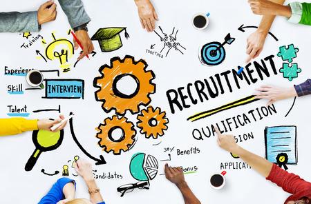 job recruitment: Diversity Hands Recruitment Search Opportunity Concept