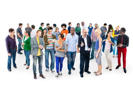 personas dialogando: Casual Comunidad Gente Comunicación Equipo Amistad Concepto