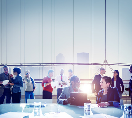 group of business people: Business People Meeting Brainstorming Team Concept Stock Photo