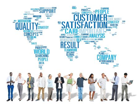 consumerism: Customer Satisfaction Reliability Quality Service Concept Stock Photo