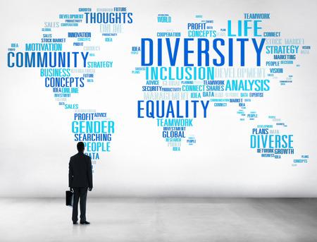 diversidad cultural: Concepto Diversidad Etnia World Community Global Foto de archivo