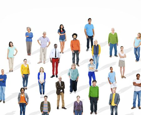 Diverse Large Group Of People Multiethnic Group Community Stock Photo